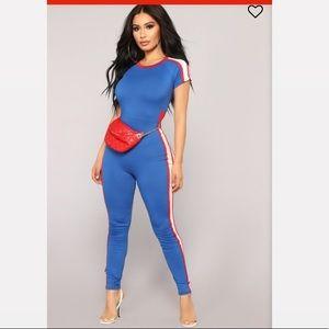 Fashionova Glad You Left Jumpsuit - Royal